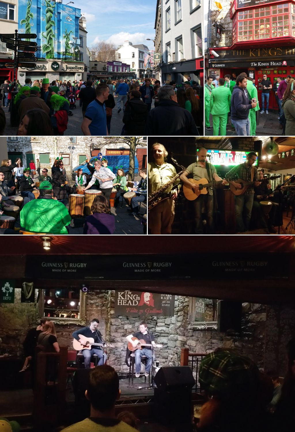 St Patricks Day in Galway, Ireland